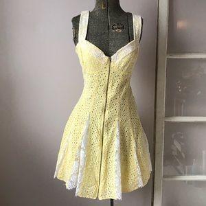 Betsey Johnson Eyelet Zipper Dress